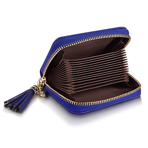 Genuine Leather Credit Card Wallet Women's Card Holder for Travel and Work Small Wallet for Women by MaxGear (Image #2)