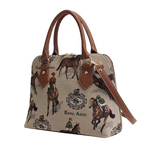 Shoulder Bag Tapestry Horse Cross Handle Racing CONV RAC Top Signare Bag Women Handbag Body XgxwX16Snq