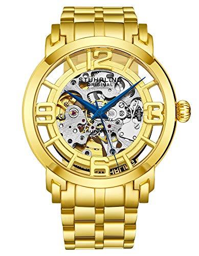 Stuhrling Original Men s 165B2B.333331 Classic Winchester 44 Elite 23k Gold-Layered Automatic Watch