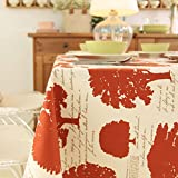 American Country Countryside Pure Colored Wood Cotton Tablecloth,Table Bugaboo-A 230x230cm(91x91inch)