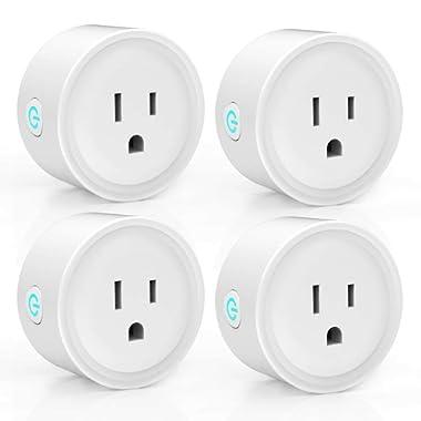 Smart Plug Outlet, Mini WiFi Plugs 4 Pack, Work with Alexa, Google Home, IFTTT, Smart Life APP(2.4Ghz) Smart Light – Avatar Controls