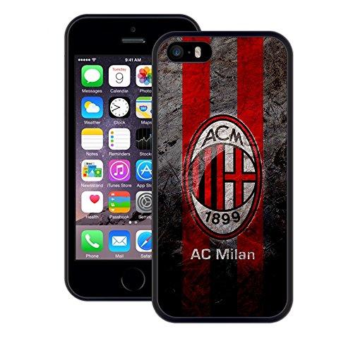 AC Milan | Handgefertigt | iPhone 5 5s SE | Schwarze TPU Hülle