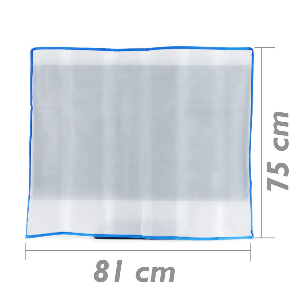 Cablematic - Funda Protectora para Pantalla Plana (81 x 12 x 75 cm), Transparente (Importado) PN26021406595114783