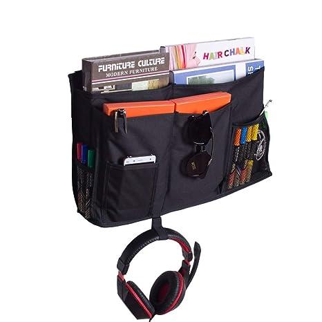 HGJ68-E - Organizador de mesilla de noche con 8 bolsillos para dormitorio, litros