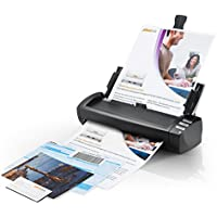 Plustek AD480 - Desktop Scanner for Card and Document, with 20 page Paper Feeder and Exclusive Card Slot.