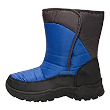Mountain Warehouse Caribou Single Stripe Kids Snow Boot - Warm, Water Resistant, Sherpa Fleece Lining & High Traction Sole - Ideal to keep feet cosy in cold weather