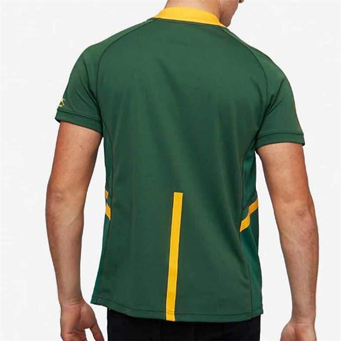 YHANS Camisetas de Rugby para Hombre,Equipo de Sudáfrica de la ...
