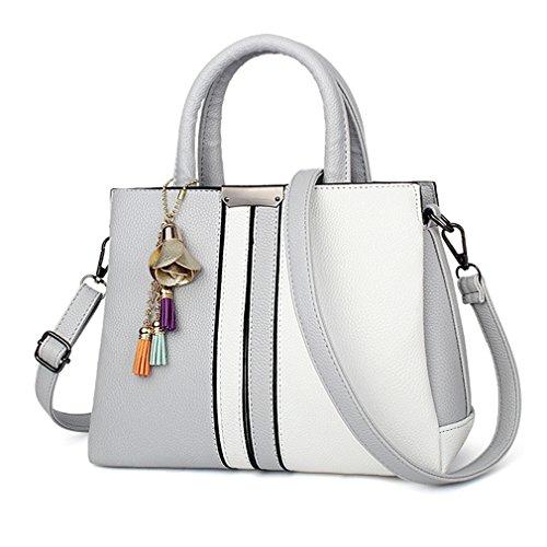 Tote Bags Handbags Women Women And Shoulder Handbag Leather Female Bag Grey Purses Swzvx