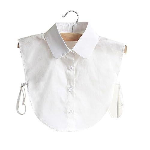 Hrph Collar de la muñeca de la manera Camisa falso de la media falsificación de las mujeres elegantes del vintage La blusa desmontable