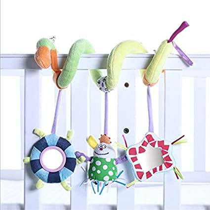 Baby Rattle Handbells Toy Crib Hanging Bell Car Seat// Pram //Stroller Wind Chime