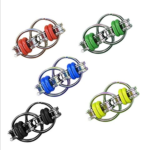XHBoutique Flippy Chain Fidget Toy Stress Reducer Toys For ADD, ADHD, Anxiety, and Autism (5 Pack)