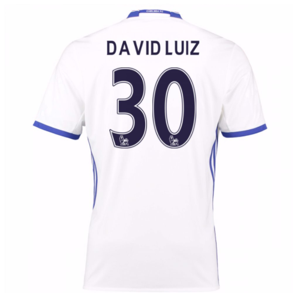 2016-17 Chelsea 3rd Football Soccer T-Shirt Trikot (David Luiz 30) - Kids