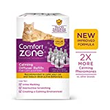 Comfort Zone MultiCat Calming Diffuser Refill Only, New and Improved Formula, 2X Pheromones for Cats, 6 Pack