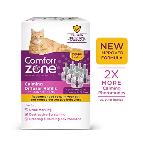 Comfort Zone New Formula Calming Refill for Cat Calming, 6 Pack