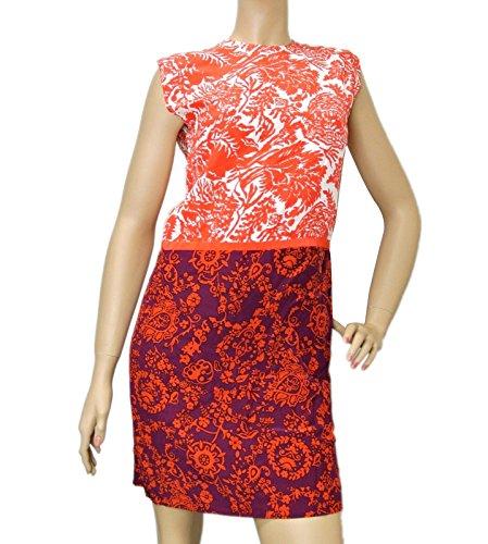 Gucci Women's Multi-Color Floral Silk T-Shirt Runway Dres...