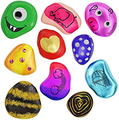 Amazon Com Rock Painting Kit For Kids Arts And Crafts For Girls Boys Ages 6 12 Craft Kits Art Set Supplies For Painting Rocks Best Tween Paint Gift Ideas