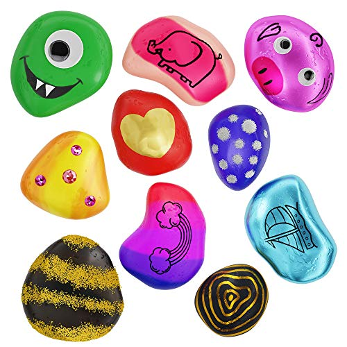 Rock Painting Kit for Kids – Arts and Crafts for Girls & Boys Ages 6-12 – Craft Kits Art Set – Supplies for Painting…
