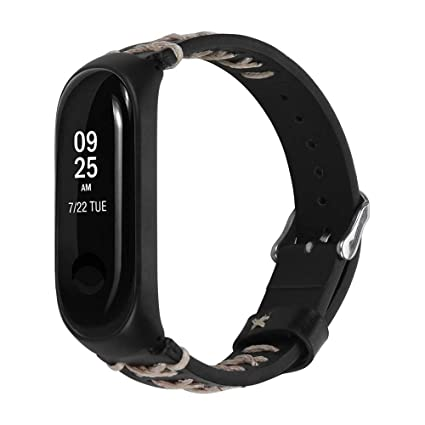 Amazon.com: Barthylomo Xiaomi Mi Band 3 Leather Replacement ...