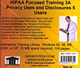 HIPAA Focused Training 3A : Privacy Uses and Disclosures 5 Users, Farb, Daniel, 1594911355
