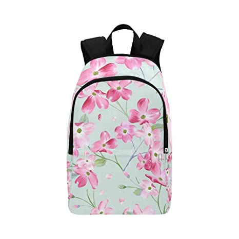 7345f5be83e8 Amazon.com: JXCSGBD Blooming Spring Flowers Casual Daypack Travel ...