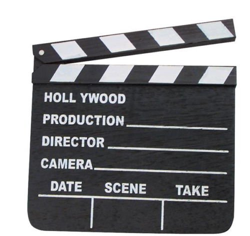 NEW HOLLYWOOD CLAPBOARD CLAPPER CLAP BOARD MOVIE SIGN DIRECTOR'S PROP CHALKBOARD 7