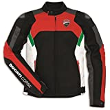 Ducati Corse Summertime Textile Jacket By Dainese Black Red White Size 54