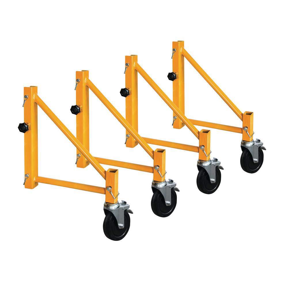 Metaltech CISO4 Outrigger Set for Maxi Square Baker Scaffold, Yellow