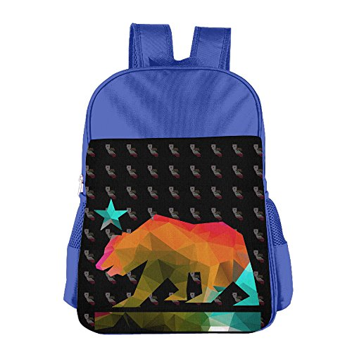 California Bear School Backpack (Leather Estate Zip)