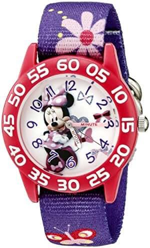 Disney Kids' W002375 Minnie Mouse Time Teacher Watch with Purple Band