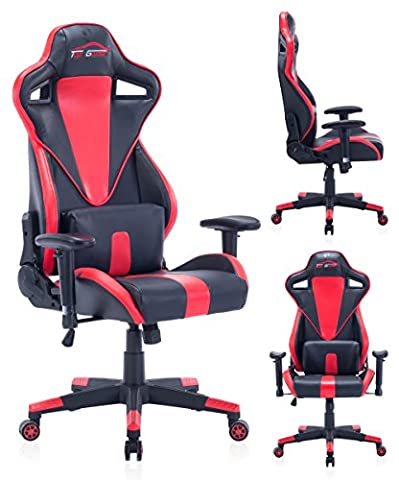 Top Gamer Ergonomic Gaming Computer Chair PC Video Game Chairs for Home Office(Red/Black) (Gamers Chairs For Pc)