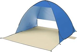 Abri instantané extérieur Tente de plage Super Bluecoast Parasol de plage extérieur Abri de soleil Cabana Automatique Pop Up UPF 50+ Ombre de soleil Camping Portable Pêche Randonnée Auvent Installatio
