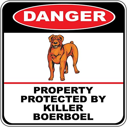 Danger Property Protected by Killer Boerboel Dog Crossing Novelty SignVinyl Sticker Decal 8