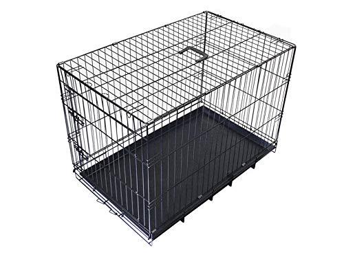 Cheeko Fold Flat Dog Crate with Door, Medium
