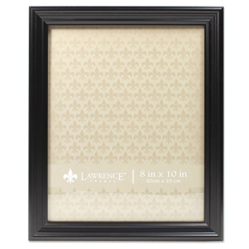 Lawrence Frames Black 8x10 Classic Detailed Picture Frame
