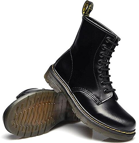 Retro Boots Women's DADAWEN Black Ankle Lace up HzWXUnUd5q