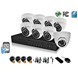 HDView 18 Channel 2.4MP 1080P HD Megapixel Security Camera Surge-Protection HD-AHD DVR Kit, with 1TB HDD, 8 x 2.4MP 1080P infrared cameras Package System