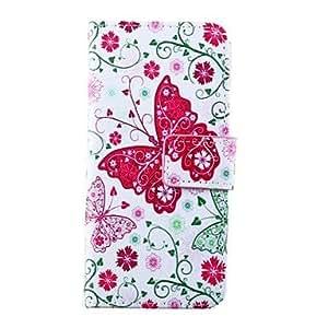 MOFY- Modelo de mariposa cubierta de cuero de la PU con el soporte y la ranura para tarjeta para el iphone 6 m‡s