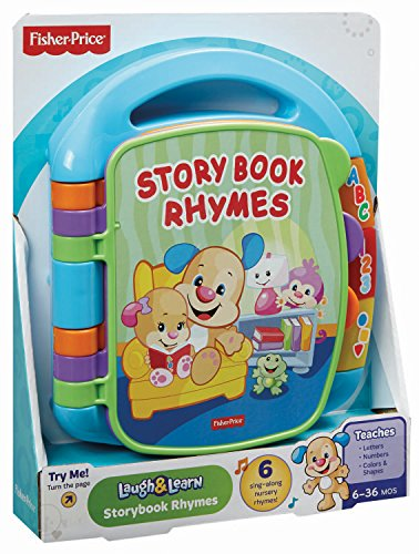 512W2JvygLL - Fisher-Price Laugh & Learn Storybook Rhymes Book