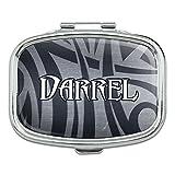 Rectangle Pill Case Trinket Gift Box Names Male Dac-Dav - Darrel