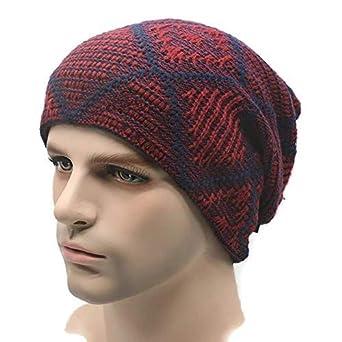 7305ef249f3 JERN Unisex Warm Grid Skiing Beanie Skull Knit Cap (Brown)  Amazon ...