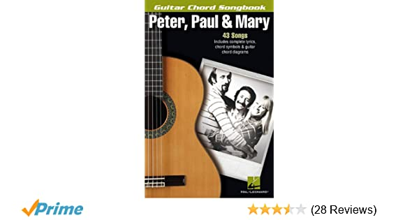 Amazon Peter Paul Mary Guitar Chord Songbook Guitar Chord