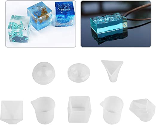 Neu Pyramid Shape DIY Silicone Mould Resin Epoxy Casting Mold Crystal Mold