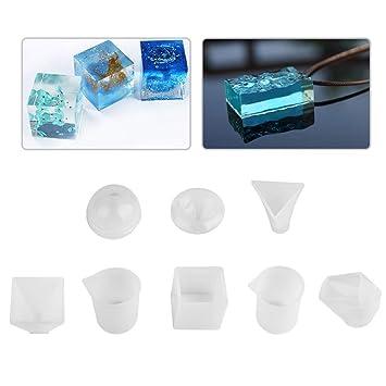 Moldes de fundición de resina, 6 paquetes de silicona de grado alimenticio moldes de resina