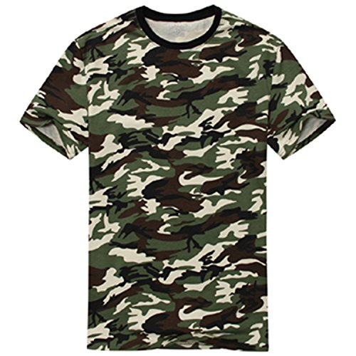 Green Capilene Shirt (Edraydd Man Casual Camouflage T-Shirt Men Cotton Army Tactical Combat T Shirt Military Camo Mens T Shirts Tops & Tees Army Asian Xl As Eur M)