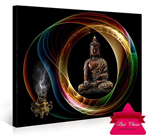 Nuolanart-Buddha Canvas Wall Art,Framed Panel Wall Art , Merciful Buddha, Act with Compassion ,24x16 inches Framed Canvas Print art,Sincere Belief-P1L4060-001