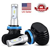 H11 LED Headlight Bulb, 50W 6500K 8000Lumens Extremely Brigh H8 H9 CSP Chips Conversion Kit