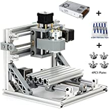 MYSWEETY DIY CNC Router Kits 1610 GRBL Control Wood Carving Milling Engraving Machine (Working Area 16x10x4.5cm, 3 Axis, 110V-240V)