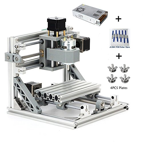 MYSWEETY DIY CNC Router Kits 1610 GRBL Control Wood Carving Milling Engraving Machine (Working Area 16x10x4.5cm, 3 Axis, 110V-240V) by MYSWEETY