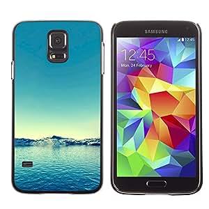 Paccase / SLIM PC / Aliminium Casa Carcasa Funda Case Cover - Nature Blue Water - Samsung Galaxy S5 SM-G900