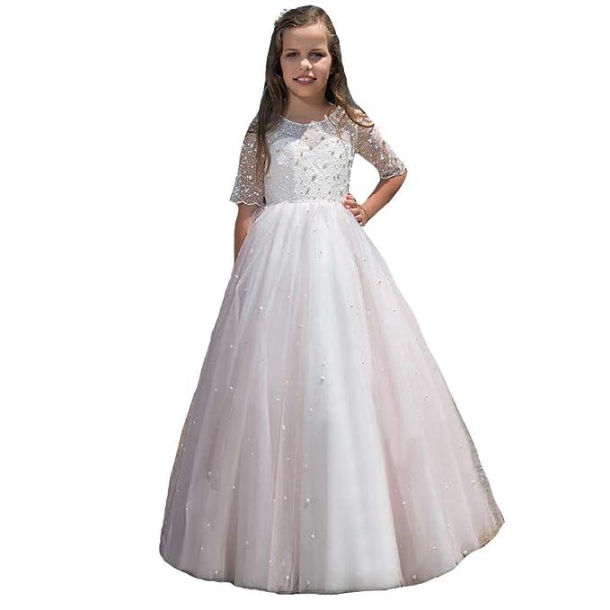 los mejores precios excepcional gama de estilos proveedor oficial MerryGirl Vestido de niña de Las Flores de Encaje Corto ...